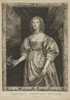 Elizabeth Cavendish (née Cecil), Countess of Devonshire, by Pierre Lombart, after  Sir Anthony van Dyck - NPG D10913