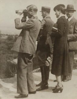 'The Duke of Windsor views the scene of the German attack at Verdun', supplied by Wide World Photos - NPG x76556