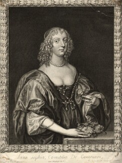 Anne Sophia Dormer (née Herbert), Countess of Carnarvon, by Pierre Lombart, after  Sir Anthony van Dyck - NPG D10914