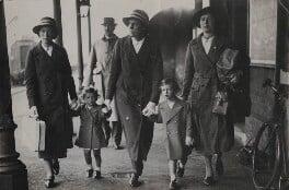 Princess Alexandra, Lady Ogilvy; Prince Edward George Nicholas Paul Patrick, Duke of Kent and four unknown attendants, by Unknown photographer, 26 July 1939 - NPG x76562 - © National Portrait Gallery, London