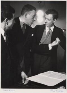 Peter Pears; Francis Poulenc; Benjamin Britten, by Felix H. Man - NPG x76594