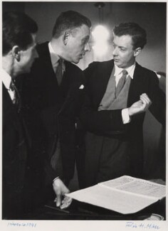 Unknown man; Francis Poulenc; Benjamin Britten, by Felix H. Man - NPG x76594