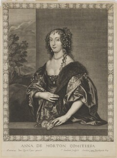Ann Douglas (née Villiers), Countess of Morton, by Pierre Lombart, after  Sir Anthony van Dyck - NPG D10897