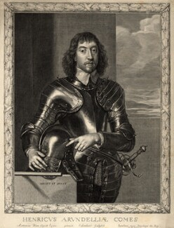 Henry Frederick Howard, 15th Earl of Arundel, 5th Earl of Surrey and 2nd Earl of Norfolk, by Pierre Lombart, after  Sir Anthony van Dyck - NPG D10900