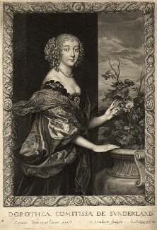 Dorothy Spencer (née Sidney), Countess of Sunderland, by Pierre Lombart, after  Sir Anthony van Dyck - NPG D10901