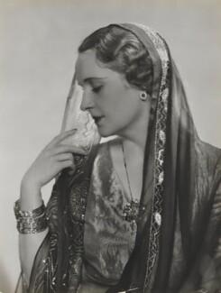 Princess Andrée Aga Khan (née Andrée Joséphine Carron), by Dorothy Wilding - NPG x4355