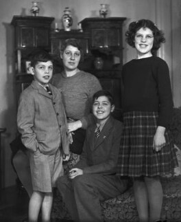 Rosemary Jean Geake (née Proctor-Beauchamp) with mother and two brothers, by Bassano Ltd - NPG x78282