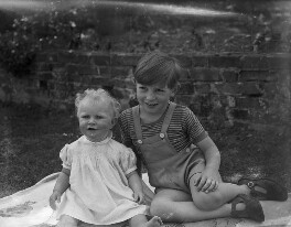 Elizabeth Mary Rice-Nicholl (née Innes); James Richard Innes, by Bassano Ltd - NPG x78350