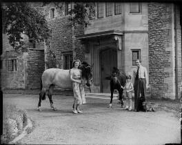 Angela Margaret (née Beaufort), Lady Walker; Sir Victor Stewart Heron Walker, 6th Bt; Sir James Heron Walker, 5th Bt, by Bassano Ltd - NPG x78401