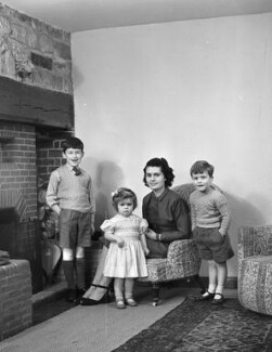 The Tregarne family, by Bassano Ltd, 17 December 1948 - NPG x78514 - © National Portrait Gallery, London