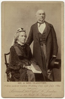 Catherine Gladstone (née Glynne); William Ewart Gladstone, by Herbert Rose Barraud - NPG x7933