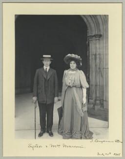Guglielmo Marconi; Hon. Beatrice Marconi (née O'Brien, later Marquise di Montecorona), by Benjamin Stone - NPG x7945