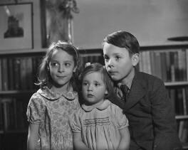 Colwyn Jestyn John Philipps, 3rd Viscount St Davids; Hon. Rowena Frances Philipps; Hon. Myfanwy Ann Smith (née Philipps), by Bassano Ltd - NPG x79731
