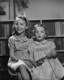 Hon. Rowena Frances Philipps; Hon. Myfanwy Ann Smith (née Philipps), by Bassano Ltd - NPG x79733