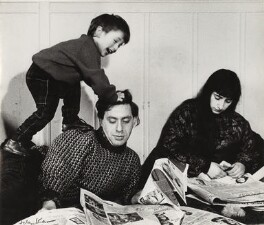 Bernard Kops; Erica Kops (née Gordon) and their son Adam Kops, by Ida Kar, 1960 - NPG  - © National Portrait Gallery, London