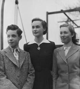 Hon. Katharine Mary Hodgkin (née Hewart); Ann Hodgkin; Howard Hodgkin, by Bassano Ltd - NPG x79758