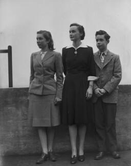 Hon. Katharine Mary Hodgkin (née Hewart); Ann Hodgkin; Howard Hodgkin, by Bassano Ltd - NPG x79759