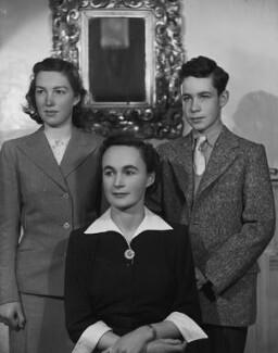 Hon. Katharine Mary Hodgkin (née Hewart); Ann Hodgkin; Howard Hodgkin, by Bassano Ltd - NPG x79760