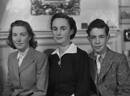 Hon. Katharine Mary Hodgkin (née Hewart); Ann Hodgkin; Howard Hodgkin, by Bassano Ltd - NPG x79761