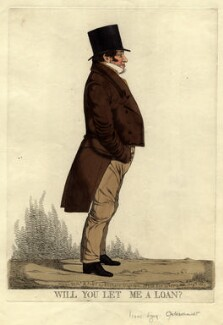 Sir Isaac Lyon Goldsmid ('Will you let me a loan?'), by and published by Richard Dighton - NPG D10919