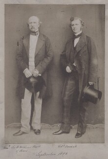 Sir William Fenwick Williams, 1st Bt; Sir Christopher Charles Teesdale, by Unknown photographer, September 1856 - NPG x8021 - © National Portrait Gallery, London