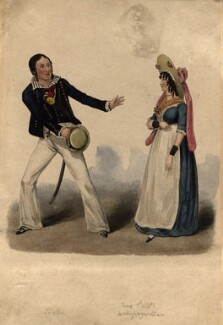 Thomas Potter Cooke as William; Miss Scott as Susan in 'Black-Eyed Susan', by Unknown artist - NPG D10922