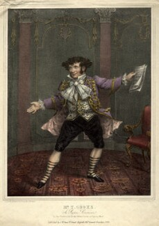Thomas Simpson Cooke as Signor Cremona in 'The Vaudeville of the Statue Lover, or Opera Mad', by and published by John William Gear, printed by  William Day Sr - NPG D10928