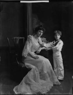 Hon. George Edward Dudley Carr Glyn; Edith Amelia (née Ward), Lady Wolverton, by H. Walter Barnett - NPG x81430