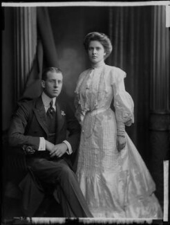 Princess Alice of Greece and Denmark; Prince Andrew of Greece, by H. Walter Barnett - NPG x81590