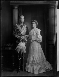Princess Alice of Greece and Denmark; Prince Andrew of Greece, by H. Walter Barnett - NPG x81593