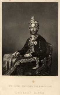 Maharajah Duleep Singh, by Daniel John Pound, after  John Jabez Edwin Mayall, 1854 or after - NPG D10941 - © National Portrait Gallery, London
