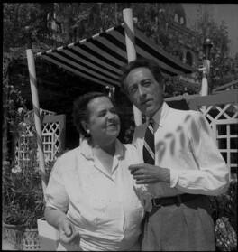 Elsa Maxwell; Jean Cocteau, by Francis Goodman - NPG x81758