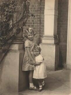 Queen Elizabeth II; Princess Margaret, by Frederick Thurston - NPG x87178