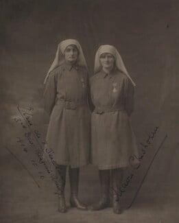 Elsie Knocker (Baroness T'Serclaes); Mairi Chisholm, by S.A. Chandler - NPG x87250