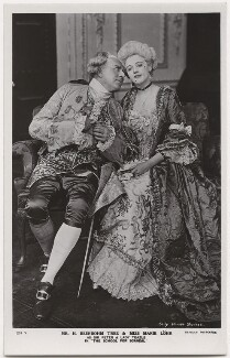 Sir Herbert Beerbohm Tree as Sir Peter Teazle; Marie Löhr (Lohr) as Lady Teazle in 'The School for Scandal', by Daily Mirror, published by  J. Beagles & Co - NPG x8729