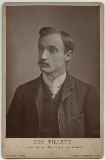 Ben Tillett, by London Stereoscopic & Photographic Company - NPG x87297
