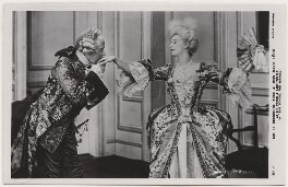 Sir Herbert Beerbohm Tree as Sir Peter Teazle; Marie Löhr (Lohr) as Lady Teazle in 'The School for Scandal', by Daily Mirror, published by  J. Beagles & Co - NPG x8730