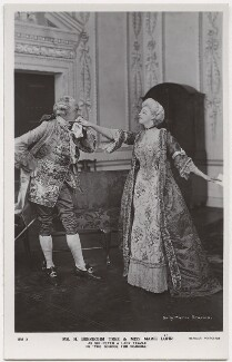 Sir Herbert Beerbohm Tree as Sir Peter Teazle; Marie Löhr (Lohr) as Lady Teazle in 'The School for Scandal', by Daily Mirror, published by  J. Beagles & Co - NPG x8732