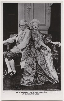Sir Herbert Beerbohm Tree as Sir Peter Teazle; Marie Löhr (Lohr) as Lady Teazle in 'The School for Scandal', by Daily Mirror, published by  J. Beagles & Co - NPG x8733