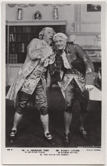 Sir Herbert Beerbohm Tree as Sir Peter Teazle; Robert Bilcliffe Loraine as Charles Surface in 'The School for Scandal', by Daily Mirror, published by  J. Beagles & Co - NPG x8734