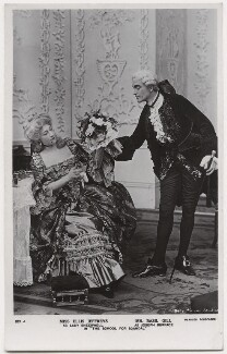 Ellis Jeffreys as Lady Sneerwell; Basil Gill as Joseph Surface in 'The School for Scandal', by Daily Mirror, published by  J. Beagles & Co - NPG x8735