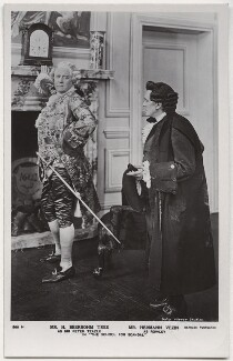 Sir Herbert Beerbohm Tree as Sir Peter Teazle; Hermann Vezin as Rowley in 'The School for Scandal', by Daily Mirror, published by  J. Beagles & Co, 1909 - NPG x8736 - © National Portrait Gallery, London