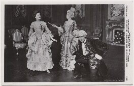 Dagmar Gladys Wiehe as Maria; Marie Löhr (Lohr) as Lady Teazle; Basil Gill as Joseph Surface in 'The School for Scandal', by Daily Mirror, published by  J. Beagles & Co - NPG x8737