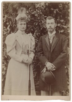 Alexandra, Empress of Russia (née Princess Alix of Hesse and by Rhine); Nicholas II, Emperor of Russia, by James Russell & Sons - NPG x8743