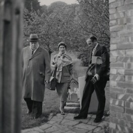 Kathleen Frances ('Katharine') Sutherland (née Barry); Graham Sutherland; Winston Churchill, by Elsbeth R. Juda - NPG x88059
