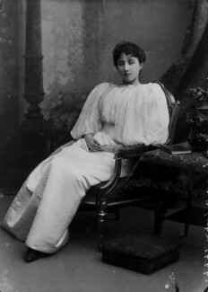 Rachel (née Gurney), Countess of Dudley, by Alexander Bassano - NPG x8859