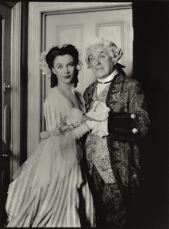 Vivien Leigh as Lady Teazle and Cyril Francis Maude as Sir Peter in 'The School for Scandal', by Lenare - NPG x896