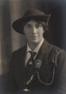 Olave St Clair Baden-Powell (née Soames), Lady Baden-Powell, by Claude Harris - NPG x9081