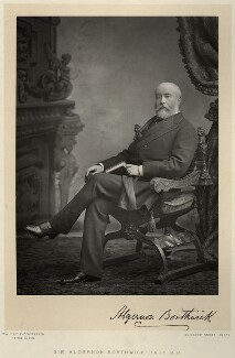 Algernon Borthwick, 1st Baron Glenesk, by Walery, published by  Sampson Low & Co - NPG x9129