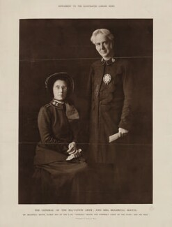 Florence Eleanor Booth (née Soper); (William) Bramwell Booth, by E.H. Mills - NPG x9212